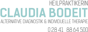 Logo: Claudia Bodeit, Heilpraktikerin, alternative Diagnostik & individuelle Therapie