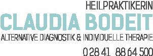 Logo: ClaudiaBodeit, Heilpraktikerin, alternative Diagnostik & individuelle Therapie